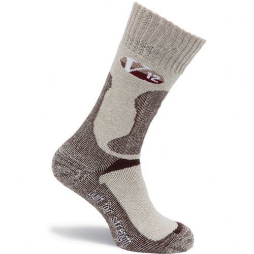 VSOK4 FAWN FLECKED CALF LENGTH V12 SOCK